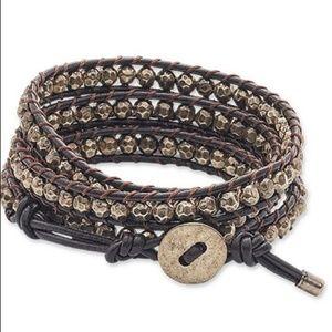Premier Designs Brown It's A Wrap Bracelet